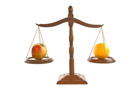 applesandoragesscale_ist2_7010066-comparing-apples-and-oranges