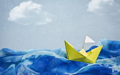 paintings waves boats artwork clear blue sky paper boat peace of mind peaceful 1920x1200 wallpap_www.vehiclehi.com_60