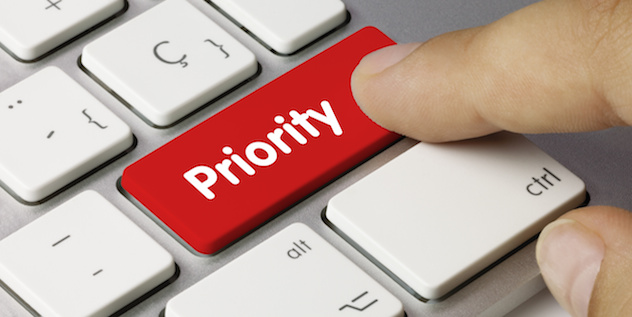 Priority. keyboard